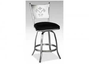 Andy Brushed Steel Swivel Counter Stool