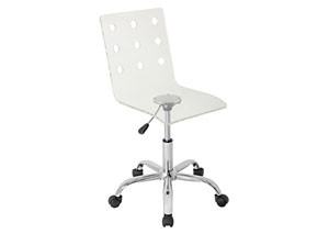 Swiss Acrylic Office Chair Clear
