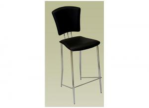 Tracy Counter Height Black Stool (Set of 2 Stools)