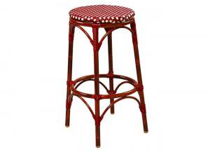 Longport Aluminum Bamboo Indoor/Outdoor Bar Stool