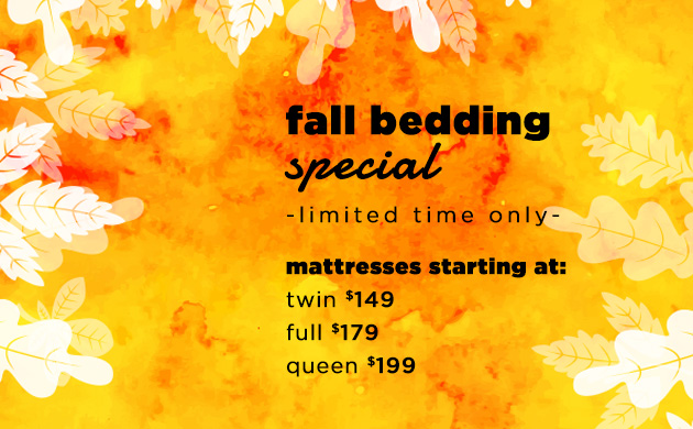 Fall Bedding Special