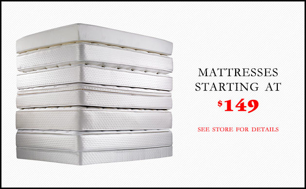 Mattresses Starting at $149