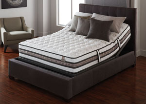 iSeries Vantage Firm Gel Memory Foam Queen Mattress w/ Motion Essentials II Adjustable Base