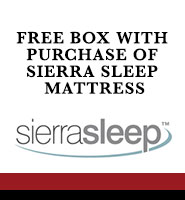 free box with purchase of Sierra Sleep mattress