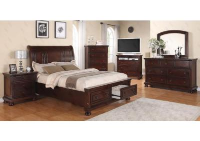 Image for Portland Queen Storage Bed, Dresser, Mirror, Chest, 2 Nightstands