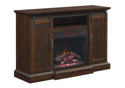 Image for Classic Flame Manning Infrared Electric Fireplace Entertainment Center, Saw Cut Espresso