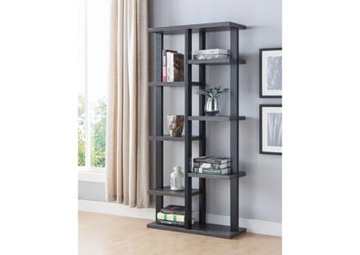 Image for Grey and Black Bookcase - Room Divider