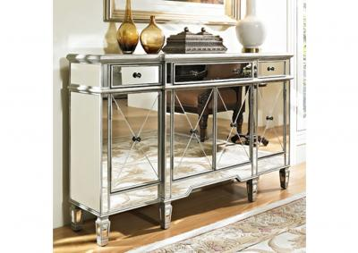 Image for Mirrored 3 Drawer 4 Door Console
