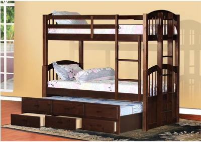 Image for Santa Paula Captain's Bunk Bed w/ Trundle & Storage - Espresso