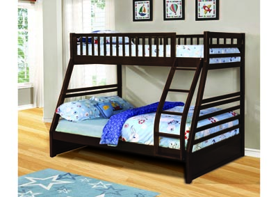 Image for North Dakota Espresso Twin/Full Angled Bunk Bed