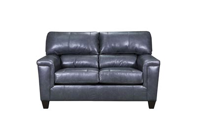 Image for Lane Furniture  Kennedy Top Grain Leather / Mate Love Seat Fog