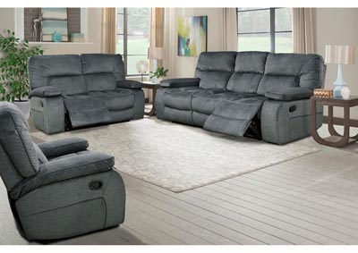 Image for Chapman Triple Reclining Sofa and Dual Reclining Love Seat Polo Blue