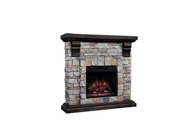 Image for Twin Star Stone Fireplace