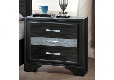 Image for Jewel Black Nightstand