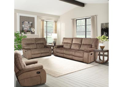 Image for Chapman Triple Reclining Sofa and Dual Reclining Love Seat - Kona Brown