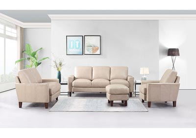 Image for Chino Top Grain Leather Sofa and Love Seat - Beige