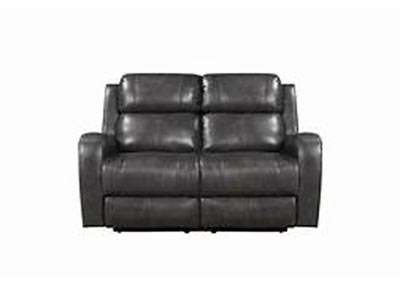 Image for Cortana Top Grain Leather Power Dual Reclining Love Seat Gray