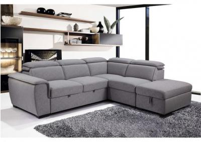 Image for Gerardo Media Sofa Sectional with Pull Out and Storage Ottoman