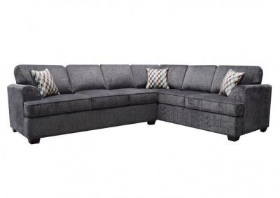 Image for Jana 2pc Sectional with Queen Sleeper Charcoal