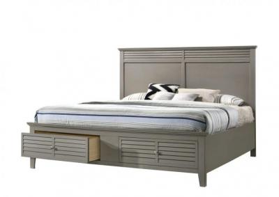 Image for Jazz Gray Platform Storage Bed - Twin