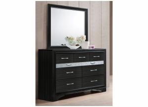 Image for Jewel Black Dresser and Mirror