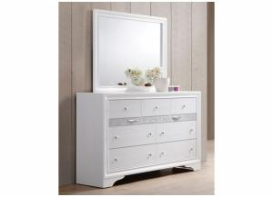 Image for Jewel White Dresser and Mirror