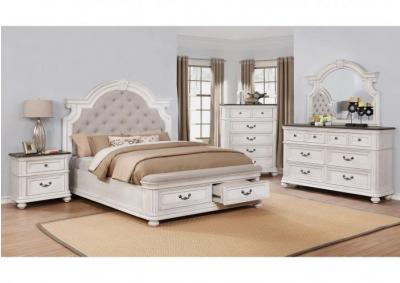 Image for Lanett Platform Storage Bedroom Set with Padded Footboard - California King