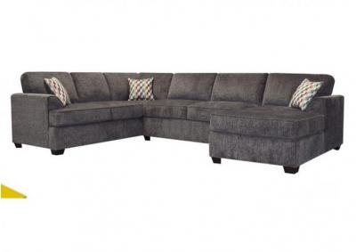 Image for Leah 3pc Sofa Sectional with Chaise - Charcoal