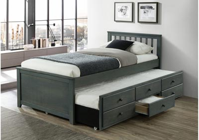 Image for Maya Trundle Bed with Storage Drawers