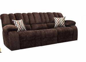 Image for Nora Dual Reclining Sofa - Chocolate