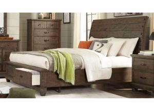 Image for Rock Brown Platform Storage Bed Queen