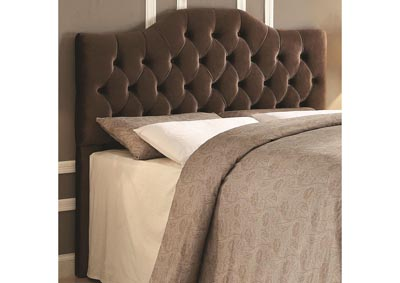 Image for Upholstered King/Cali King Headboard in Coffee Velvet - Grayish Brown