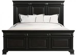 Image for Calloway Black Panel Bed - Eastern King