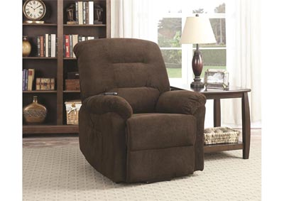 Image for Maverick Power Lift Reclining Chair - Chocolate