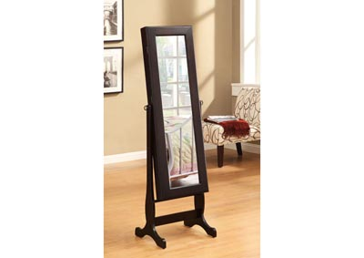 Image for Chevel Mirror with Jewelry Storage Cabinet