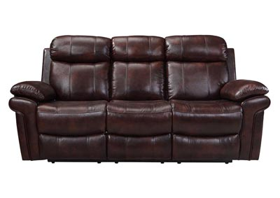 Image for Joplin Top Grain Leather Dual Reclining Power Sofa - Brown