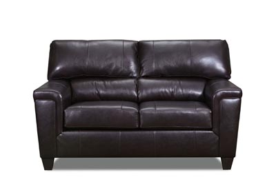 Image for Lane Furniture  Kennedy Top Grain Leather / Mate Love Seat Bark