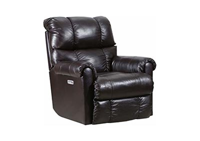 "Image for Lane ""June"" Leather Power Rocker - Recliner with Heat and Massage - Bark"
