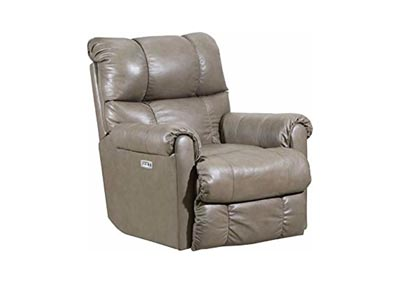Image for Lane  June Leather Power Rocker Recliner with Heat and Massage Taupe