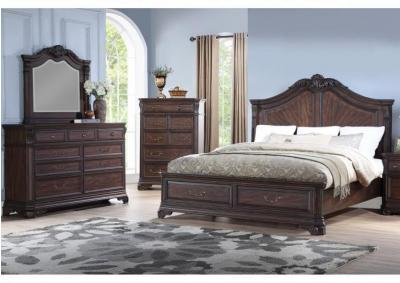 Image for Andrea 4pc Traditional Storage Bedroom Group Eastern King