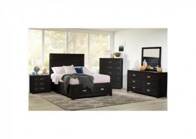 Image for Altima Black 4pc Storage Platform Bedroom Group - Queen