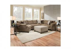 Image for Reagan 3pc Sectional - Albany Truffle