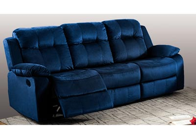 Image for Madera Power Dual Reclining Sofa Blue