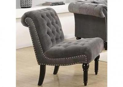 Image for Twain Armless Accent Chair - Broadway Gun Metal