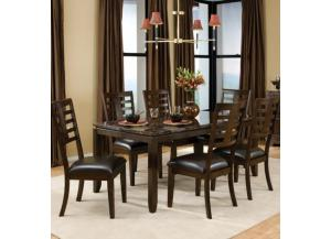 Bella Dining Table and 6 Side Chairs