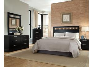 Atlanta Queen/Full Panel Headboard, Dresser, and Mirror