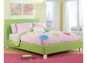 Fantasia Twin Green Platform Bed