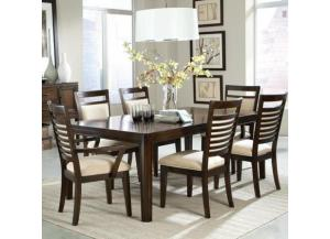 Avion Dining Table, 4 Side Chairs, and 2 Arm Chairs