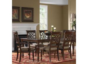 Woodmont Dining Table, 4 Side Chairs, and 2 Arm Chairs