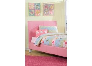Fantasia Twin Pink Platform Bed